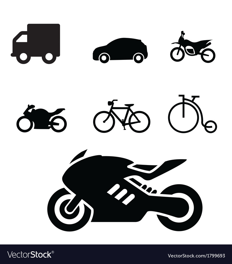 Set of vehicles icon