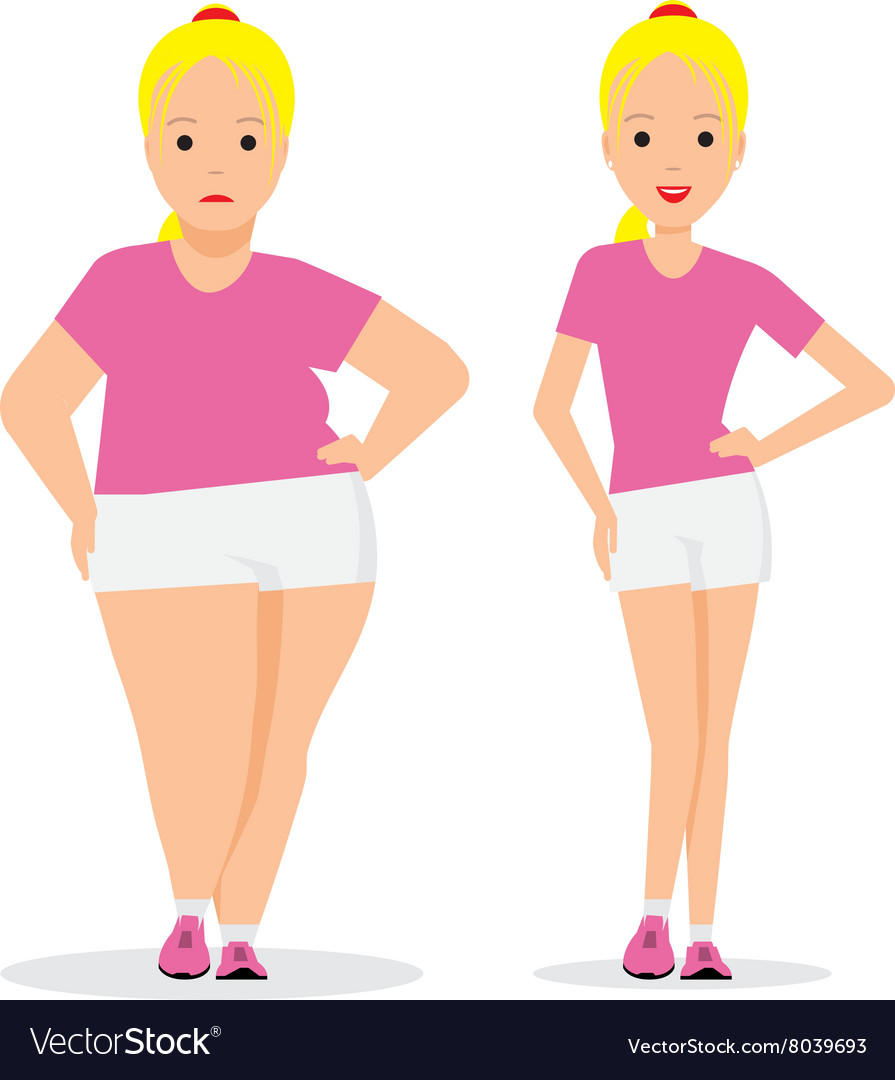 Stages weight loss before and after