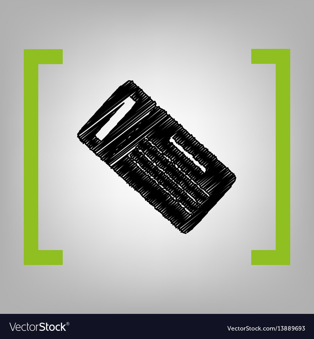 Ticket simple sign black scribble icon in