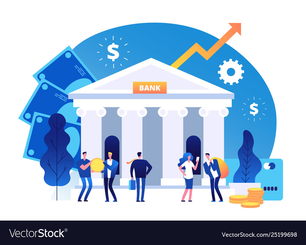 Bank building banking investment wealth growth vector