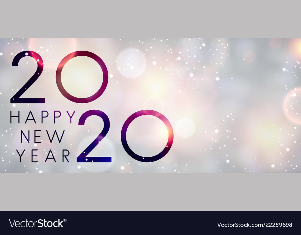 Merry Christmas And Happy New Year 2020 Greeting Card ...