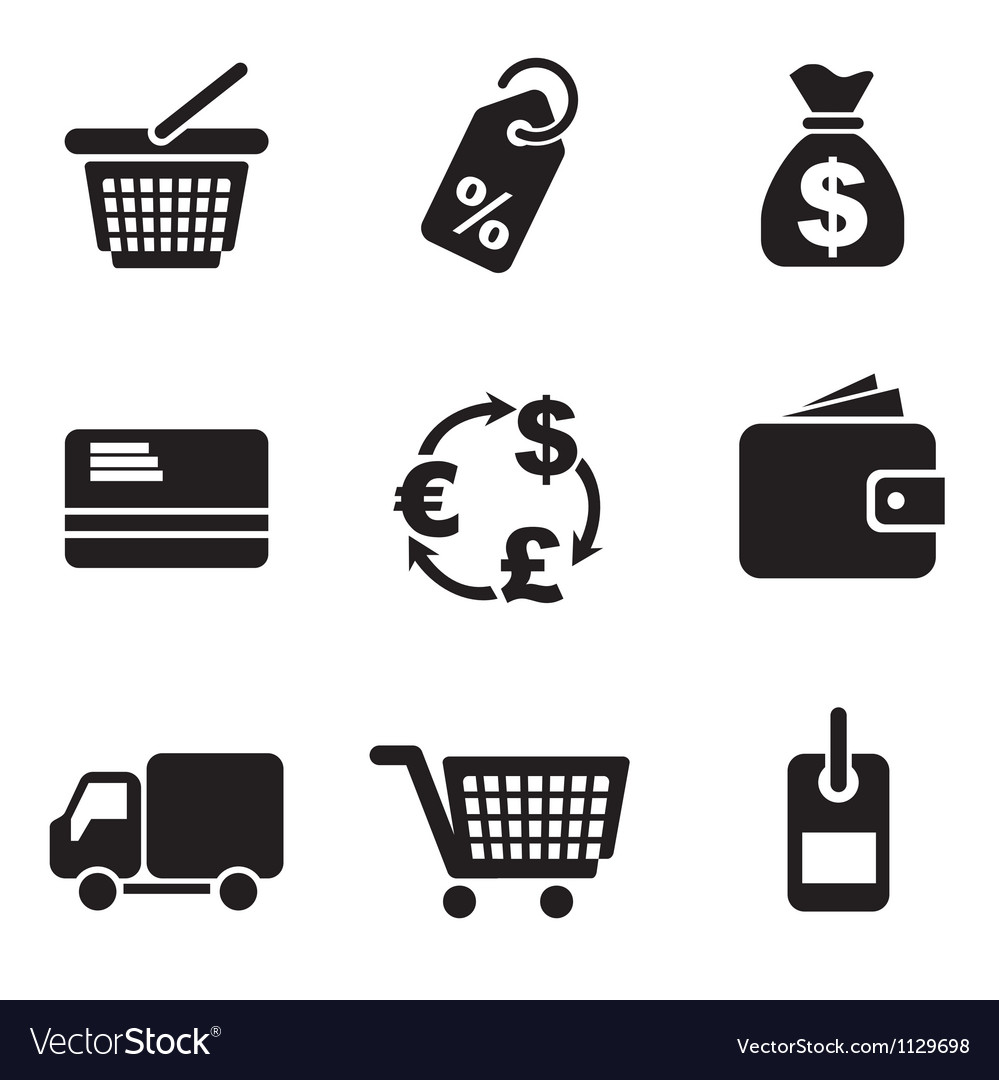 Computer commerce icons