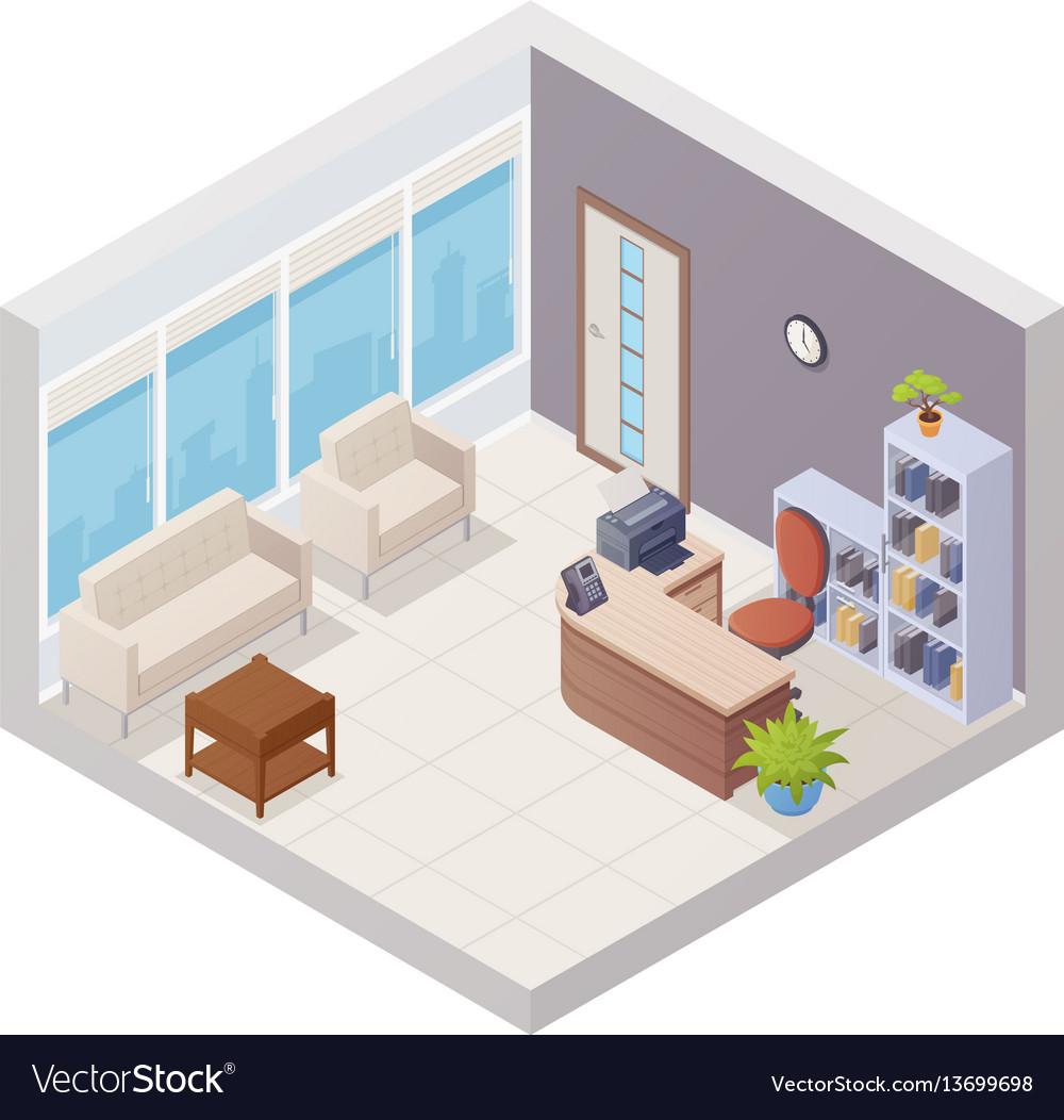 Isometric office interior