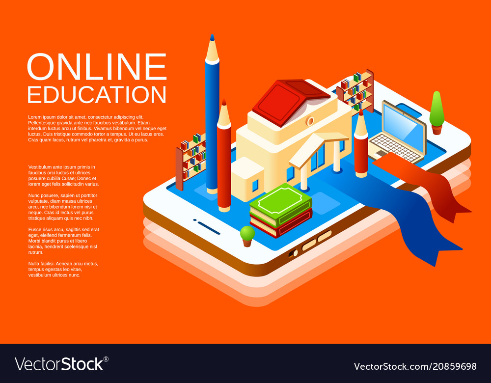 Isometric online education application