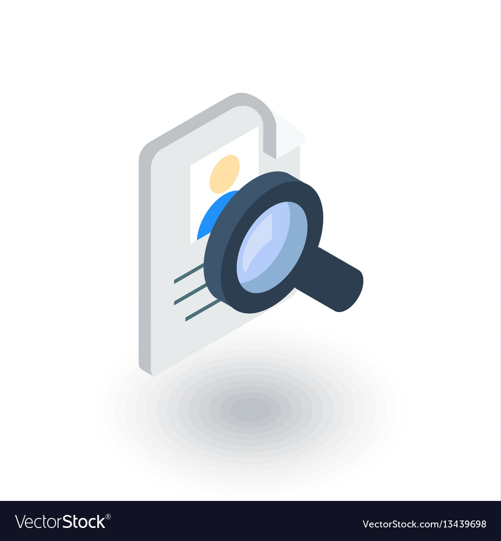 Recruitment resume search job selecting staff vector image