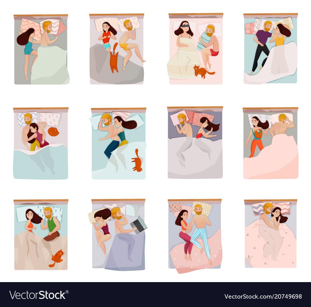 Sleeping poses set