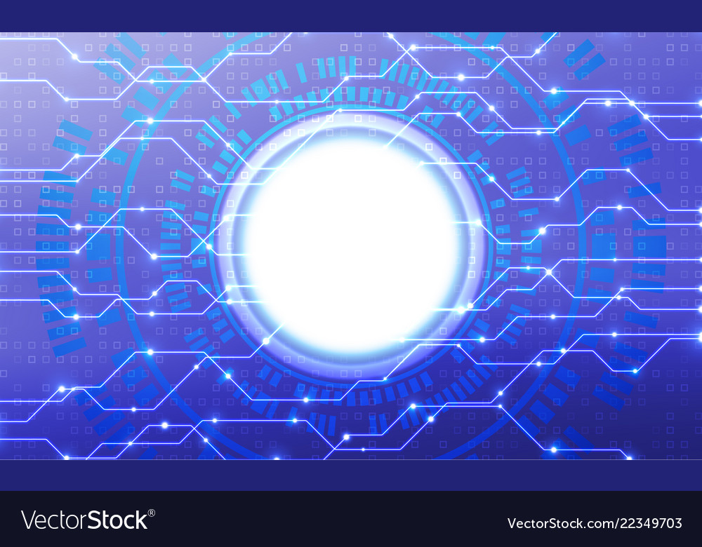 Abstract blue technology concept background