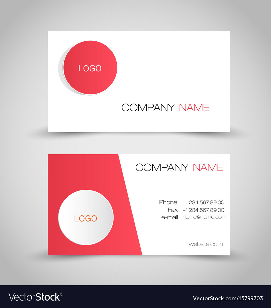 Business card design set template royalty free vector image business card design set template vector image reheart Gallery