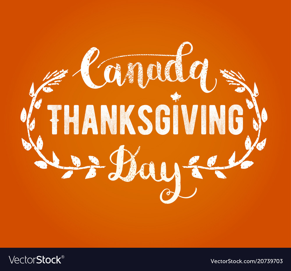 Canada thanksgiving day greeting card happy vector image m4hsunfo