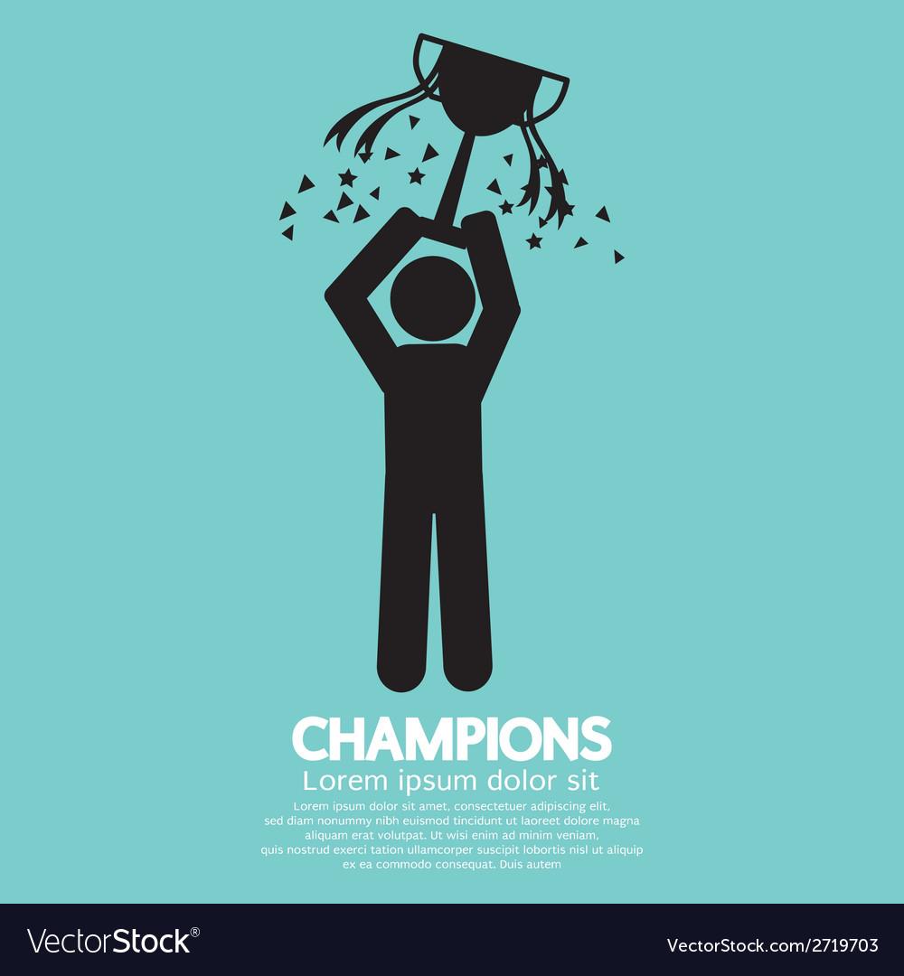 Champions Graphic Sign