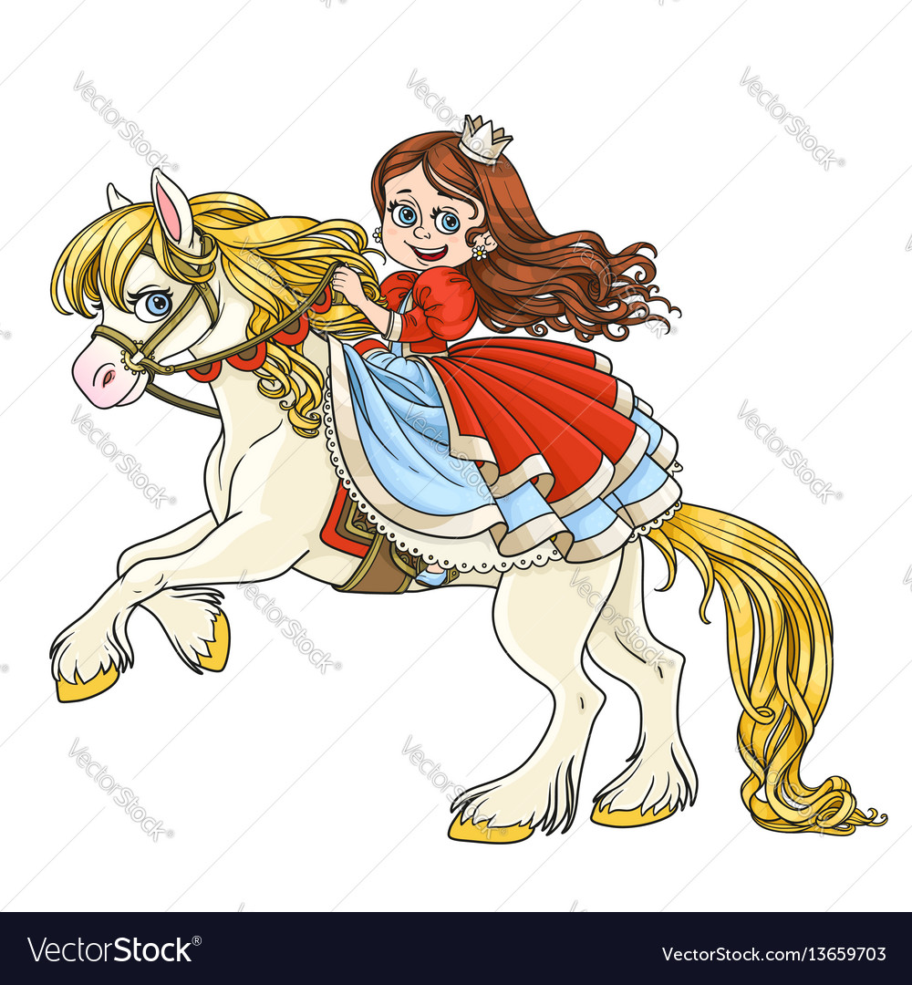 Cute princess riding on horse that bucks front