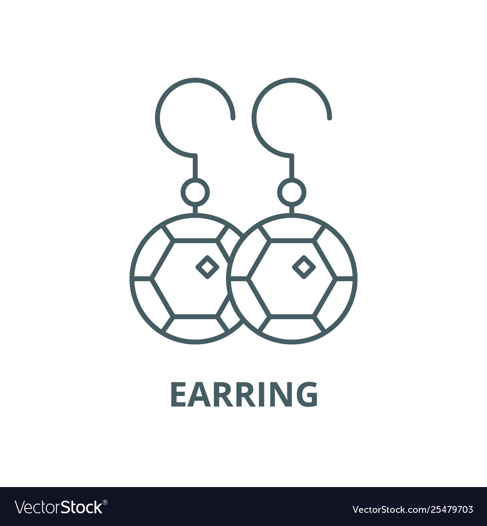 Earring line icon linear concept outline