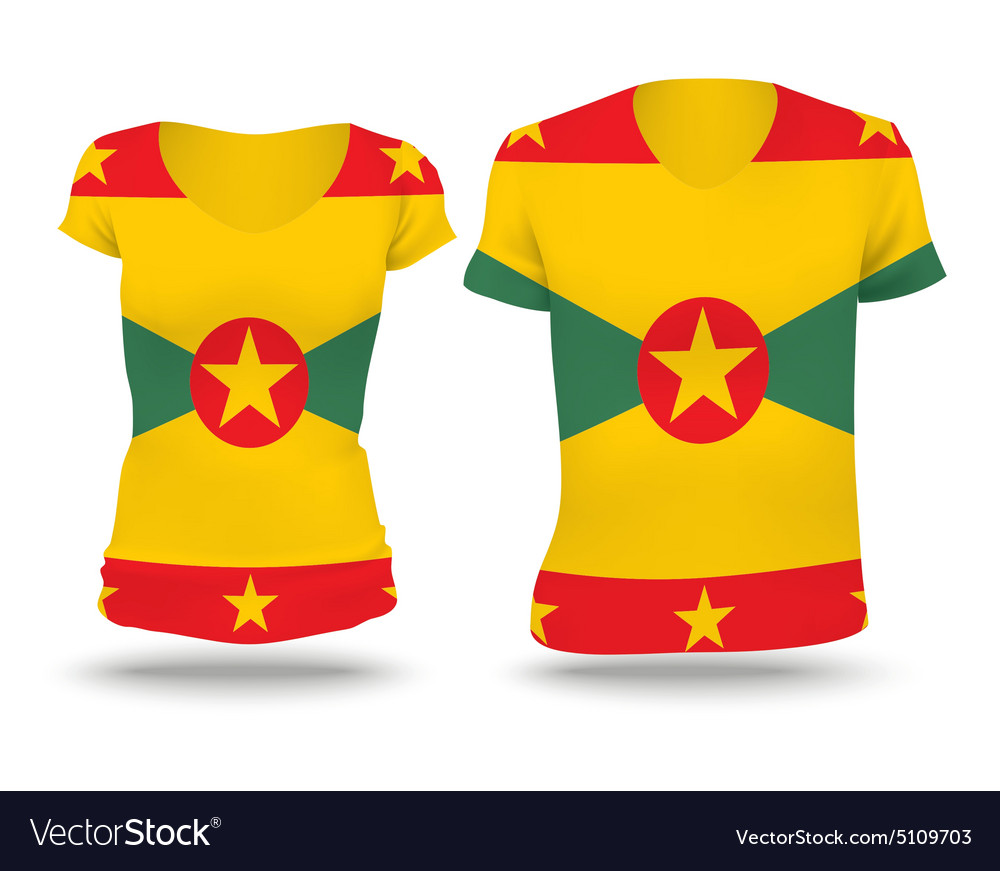 Flag shirt design of Grenada vector image