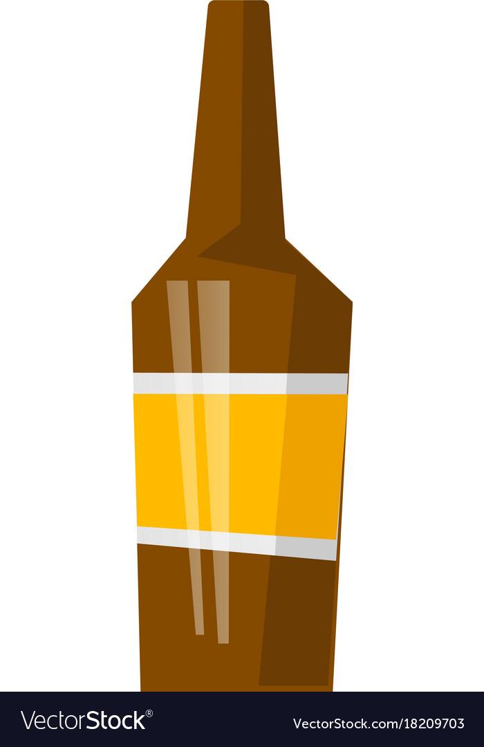 glass beer bottle cartoon royalty free vector image rh vectorstock com cartoon beer bottle cap cartoon beer bottle photo