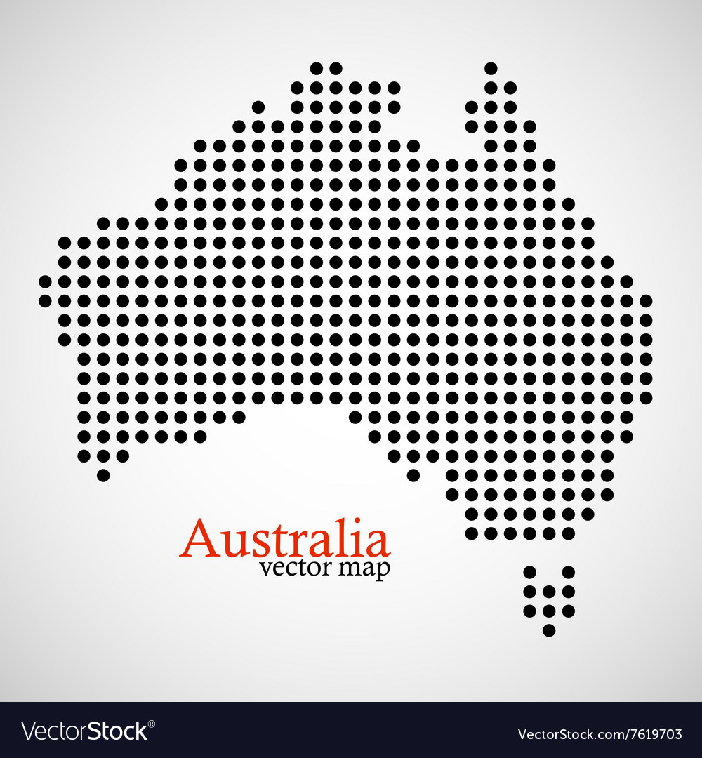 Map of Australia from round dots