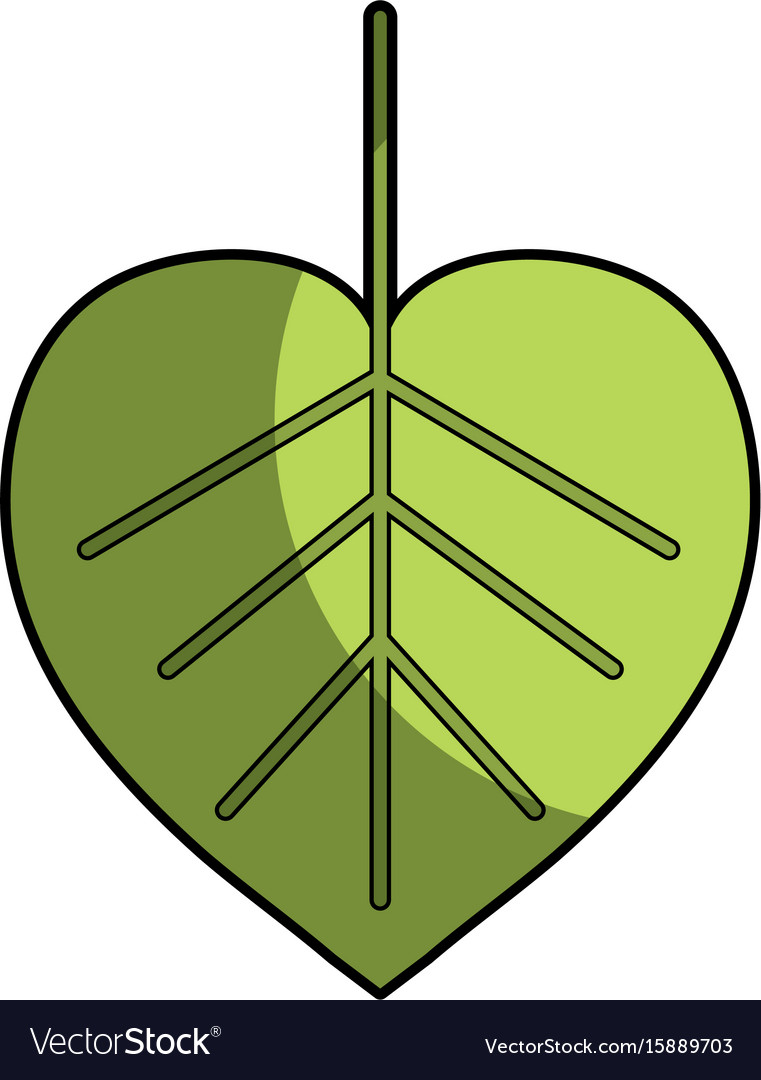 Natural Leaf Symbol To Conservation The Royalty Free Vector