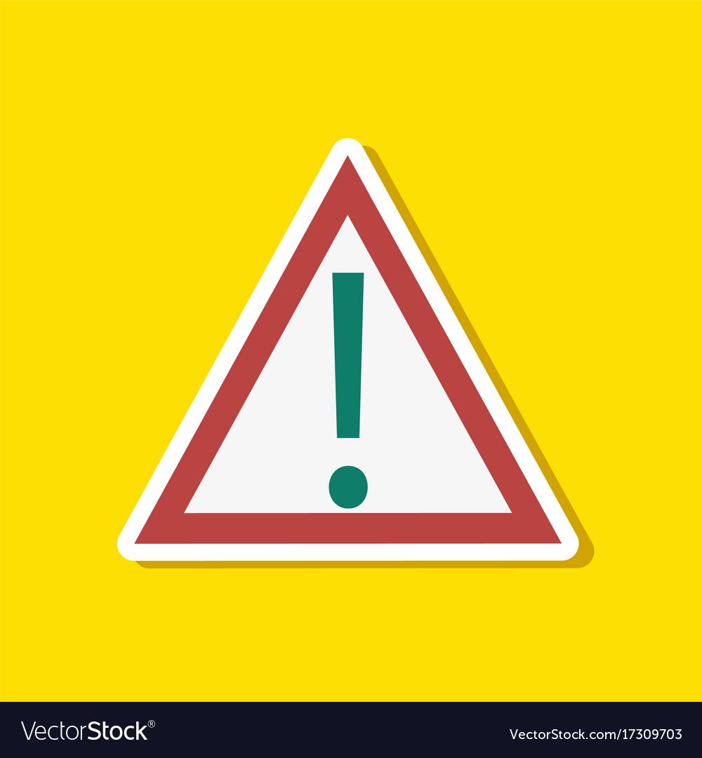 Paper sticker on stylish background attention sign
