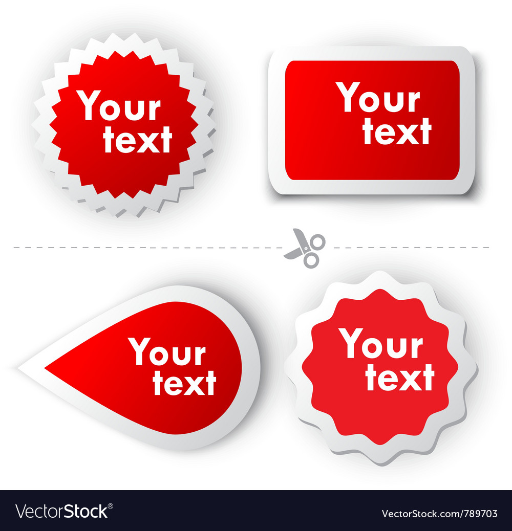 Red sticker for text