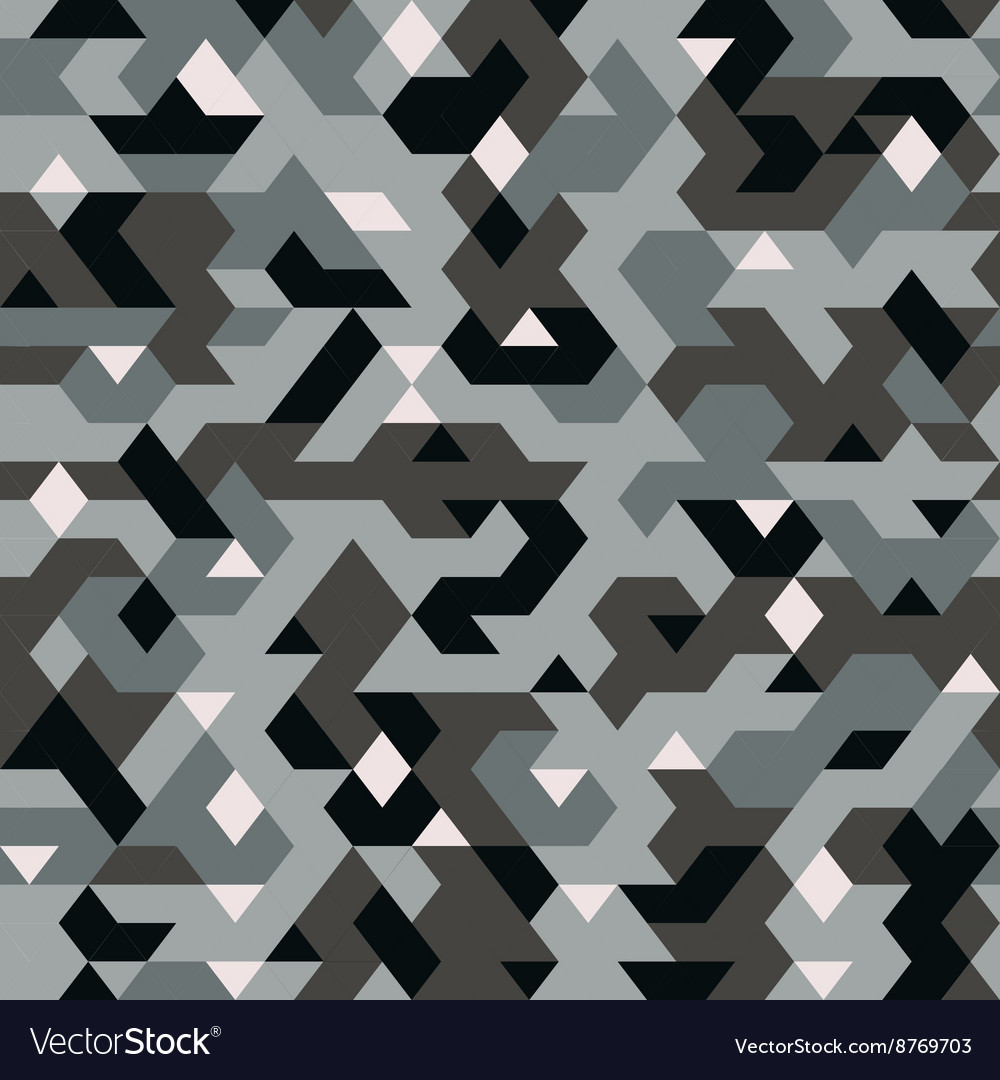 Seamless pattern in camouflage style pixel