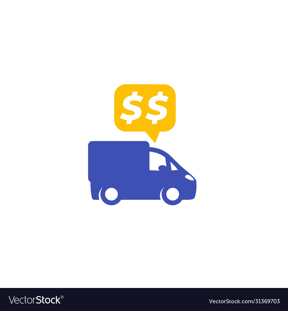 Transportation costs icon on white