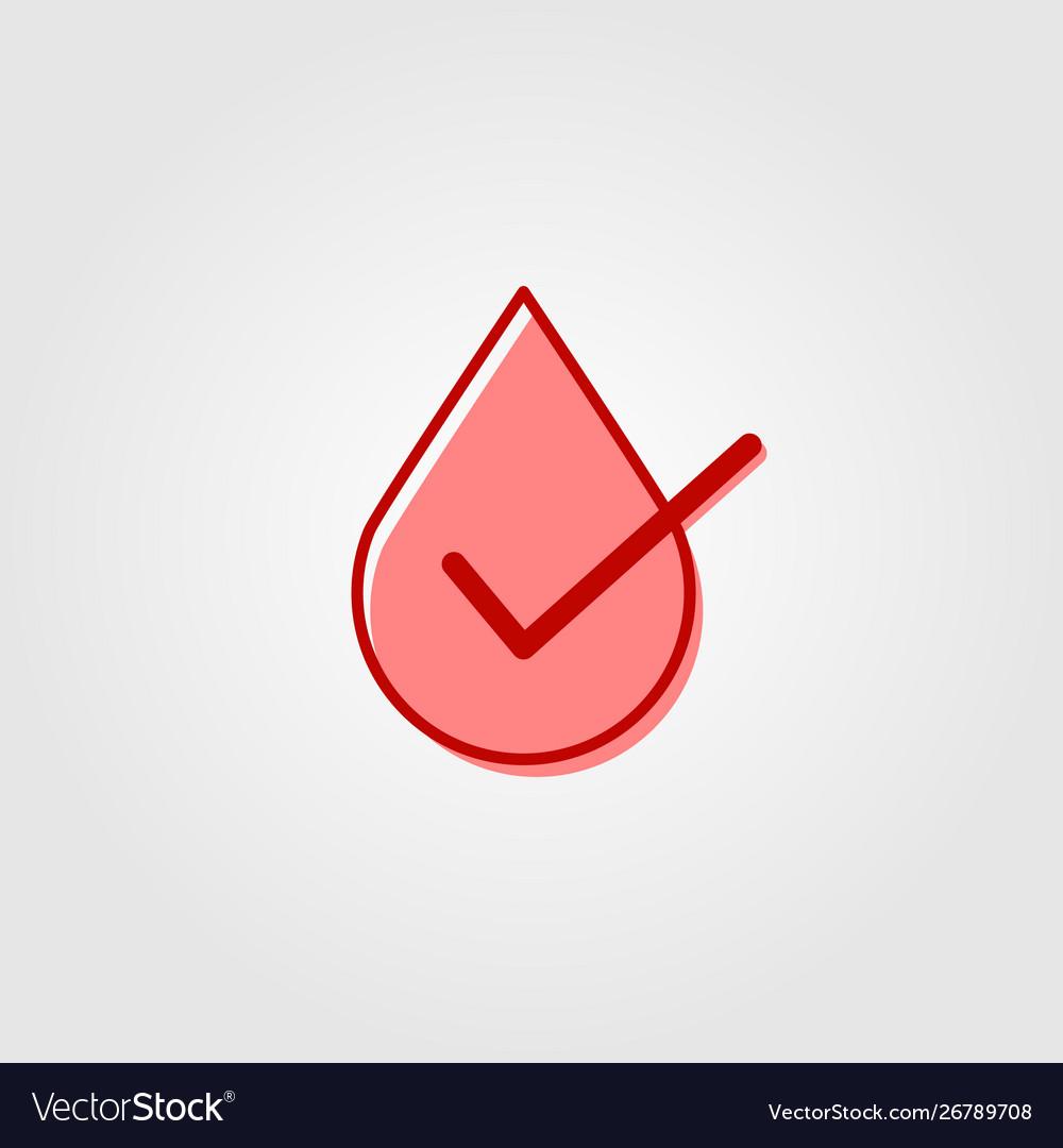 Blood liquid water drop check logo icon designs