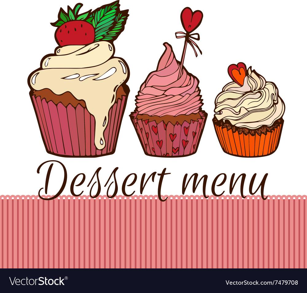 Cupcakes dessernt menu