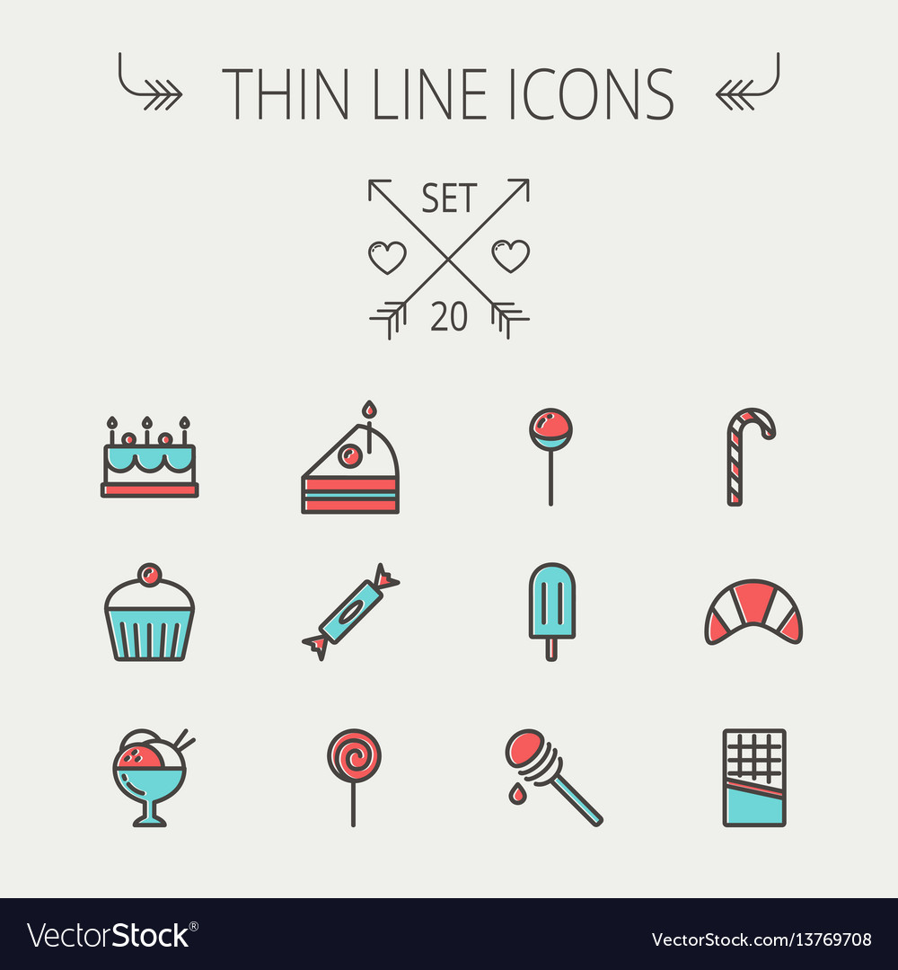 Food thin line icon vector image