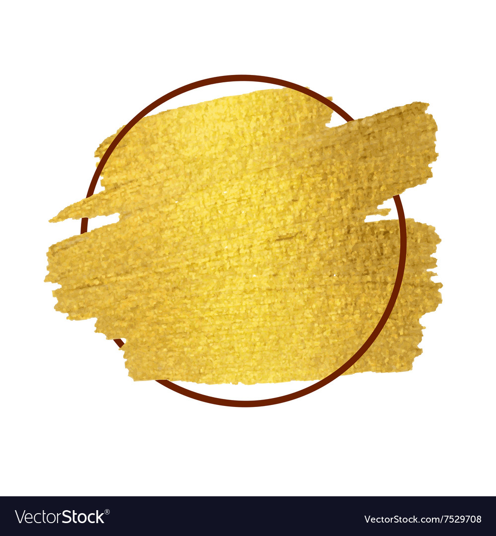 Gold Paint Stroke With Border Frame Royalty Free Vector