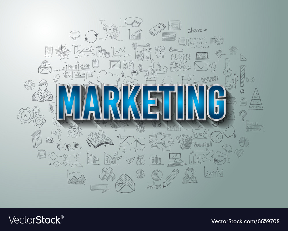 Marketing with Doodle design style