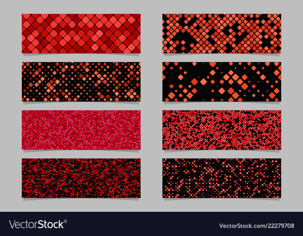 Modern diagonal rounded square pattern banner