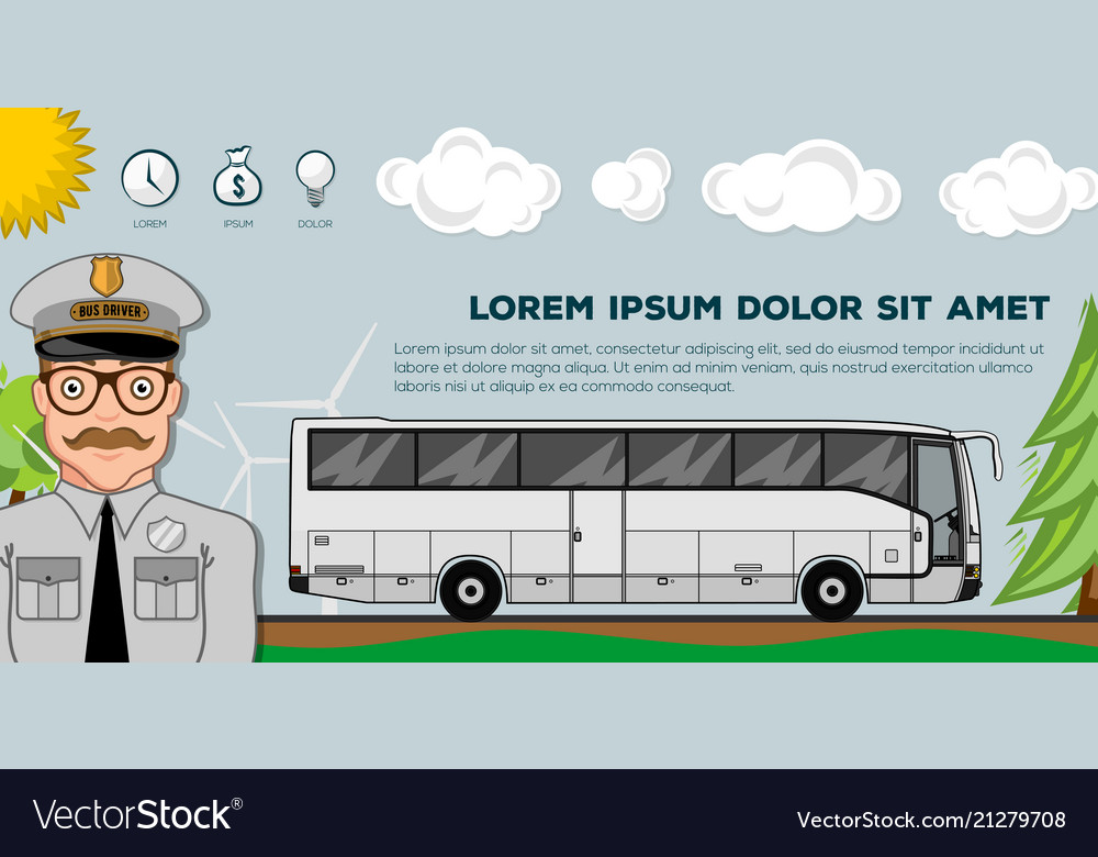 Travel bus transportation banners or posters