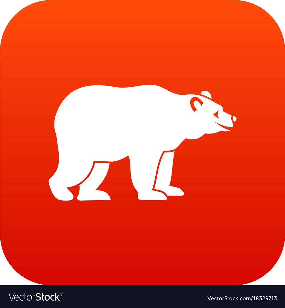 Bear icon digital red