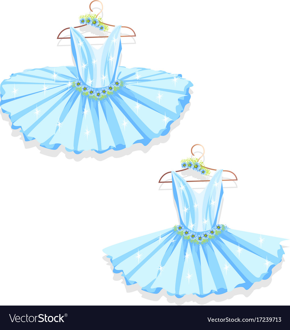 Blue tutu on the hanger