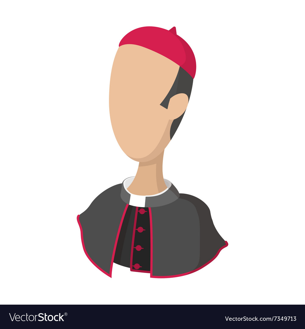 Cardinal catholic priest cartoon icon
