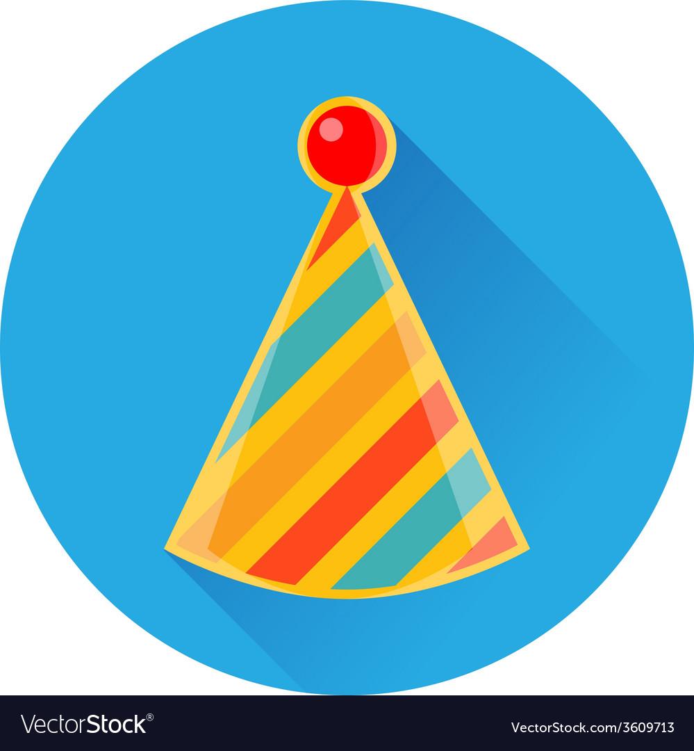 Celebratory striped clown cap icon