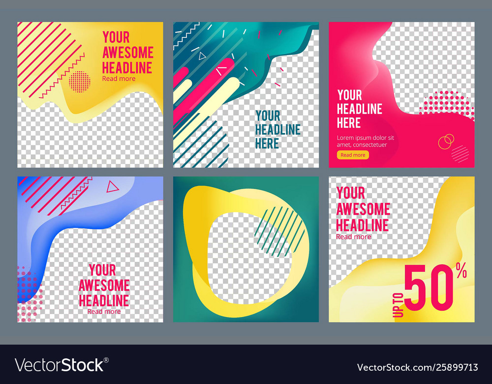 Editable social banners simple web visual offers
