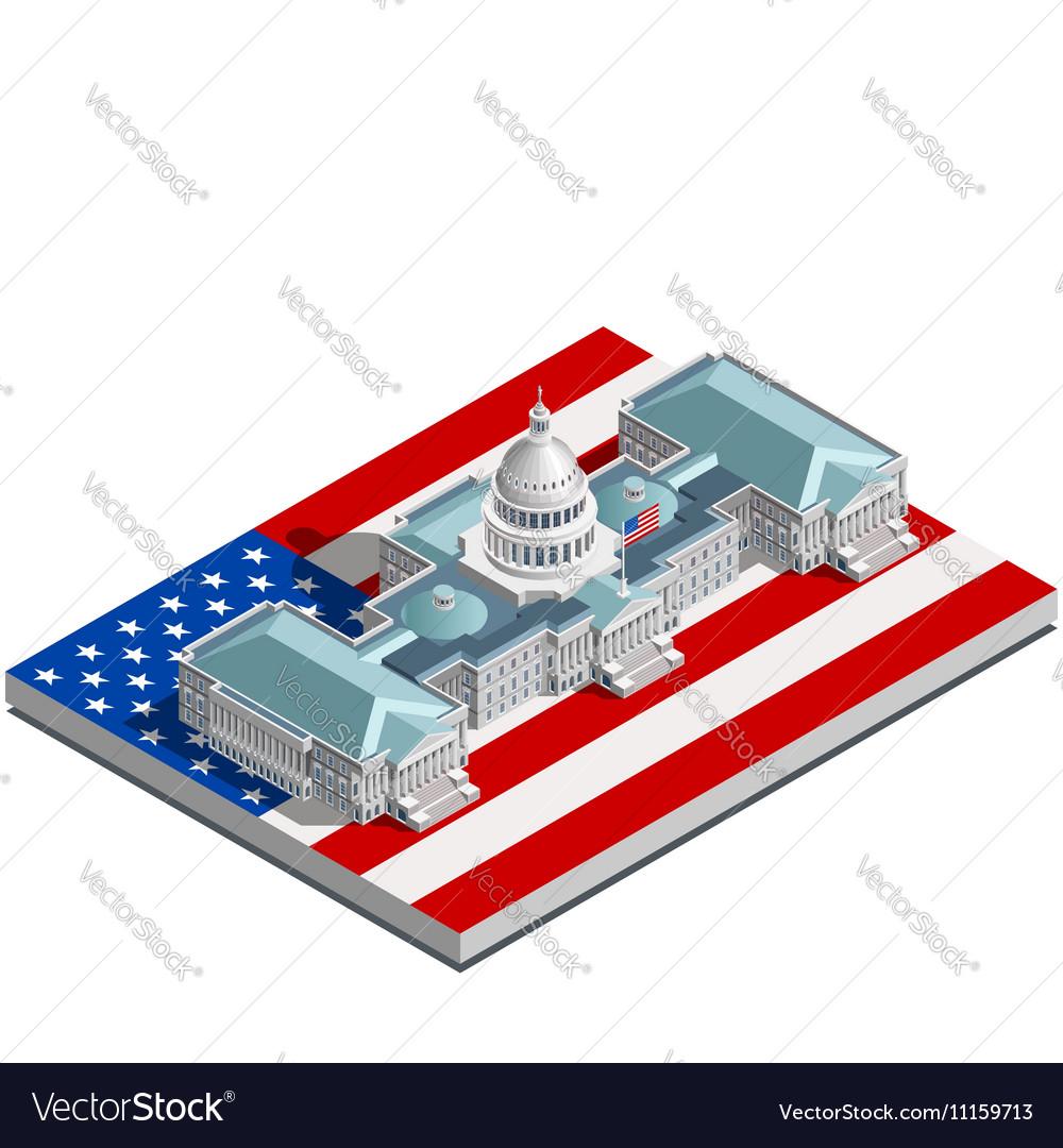 Election Infographic Politic Congress Isometric