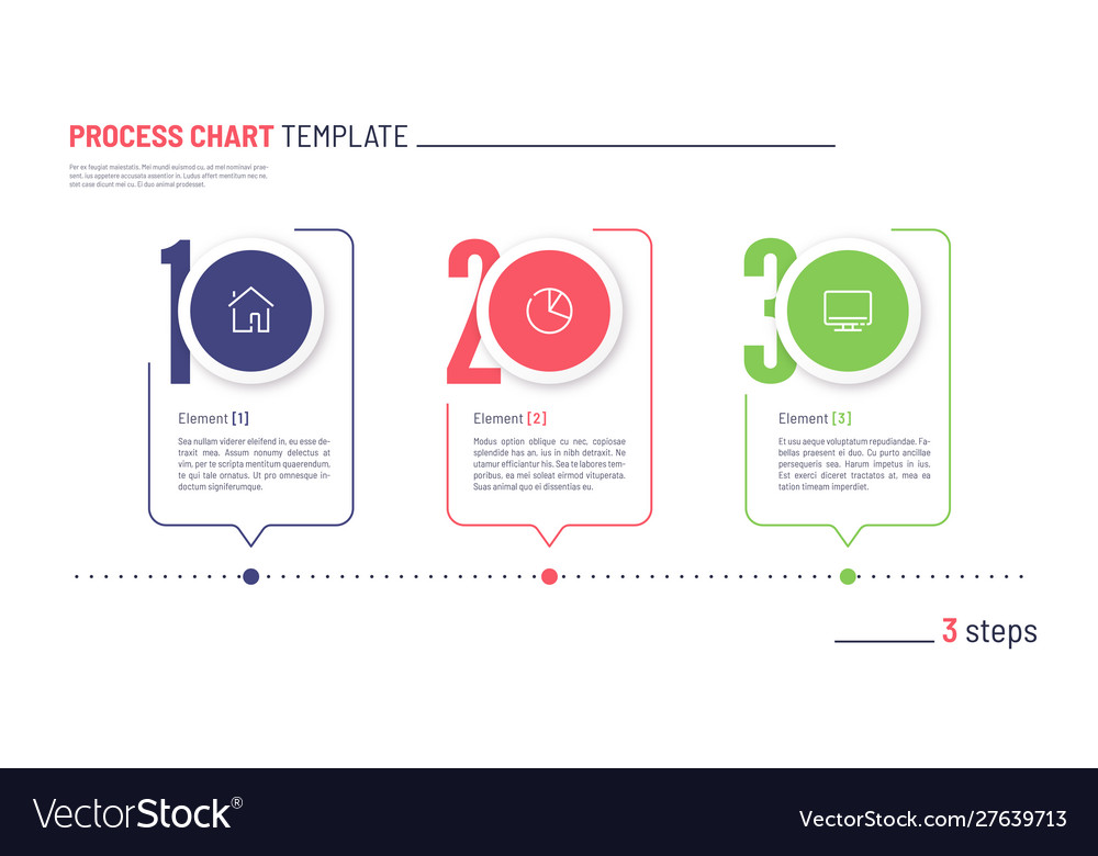 Infographic numbered process chart template