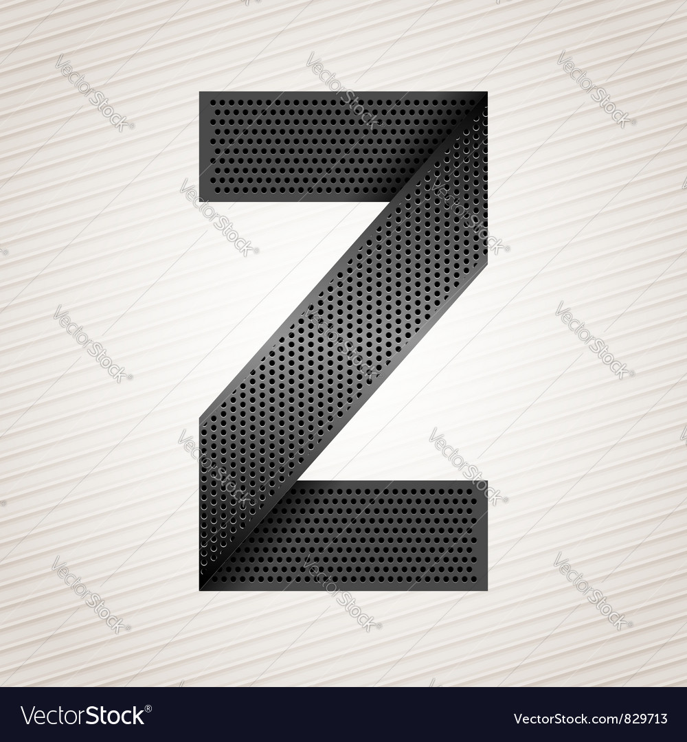 Letter metal ribbon - Z vector image