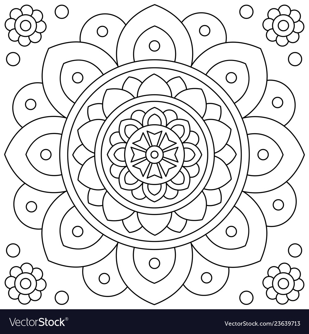Free Printable Coloring Pages | Color a Mandala | 1080x1000