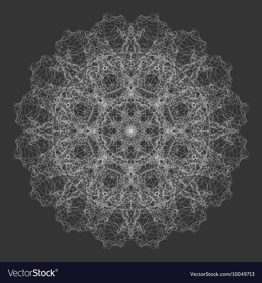 Mandala Flower Round Oriental Ornament Design