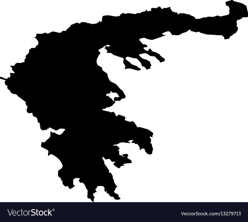 Map of greece Royalty Free Vector Image - VectorStock
