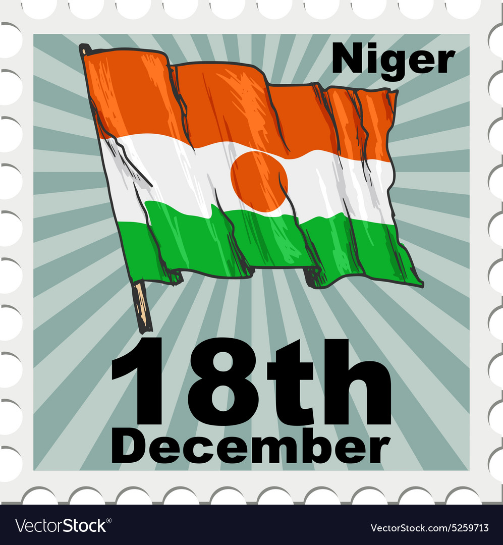 Post stamp of national day of Niger