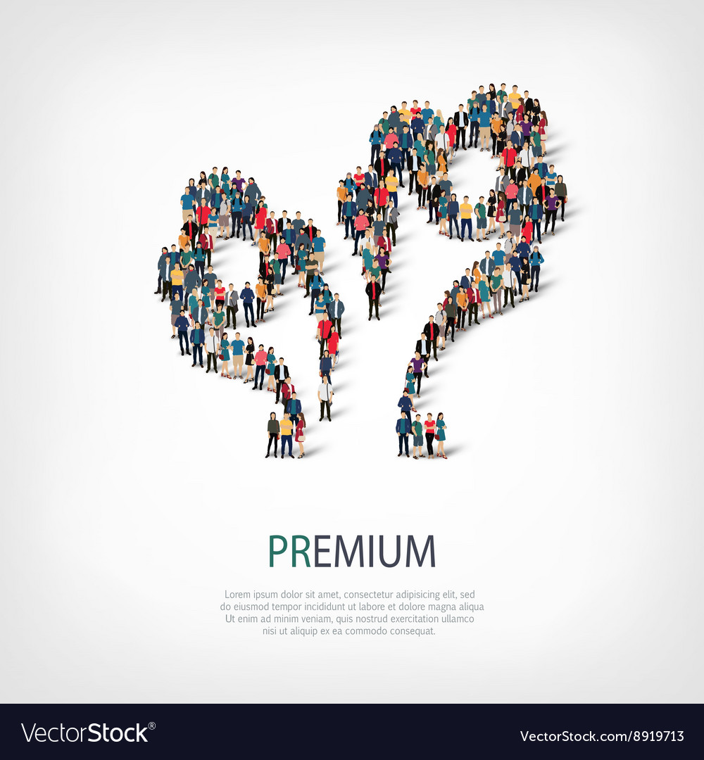 Premium people sign 3d