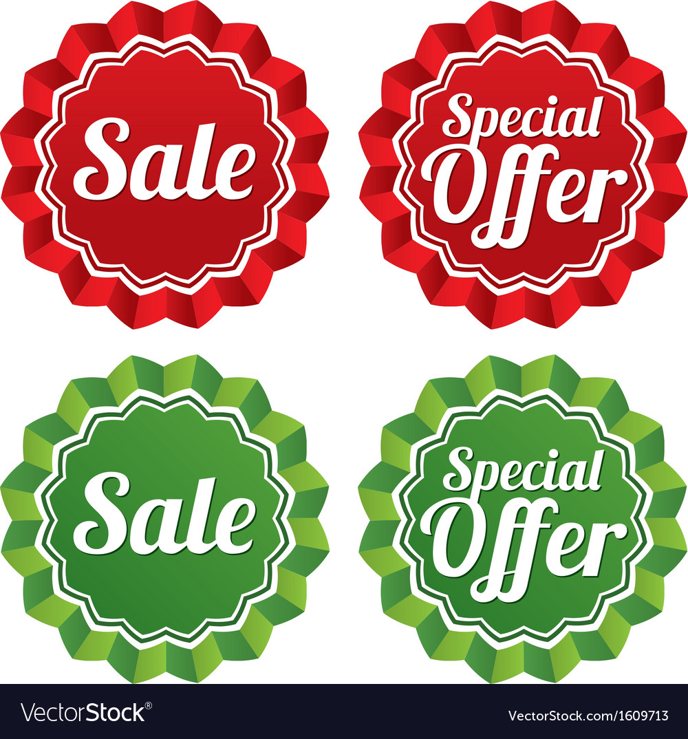 special offer price tags templates set royalty free vector