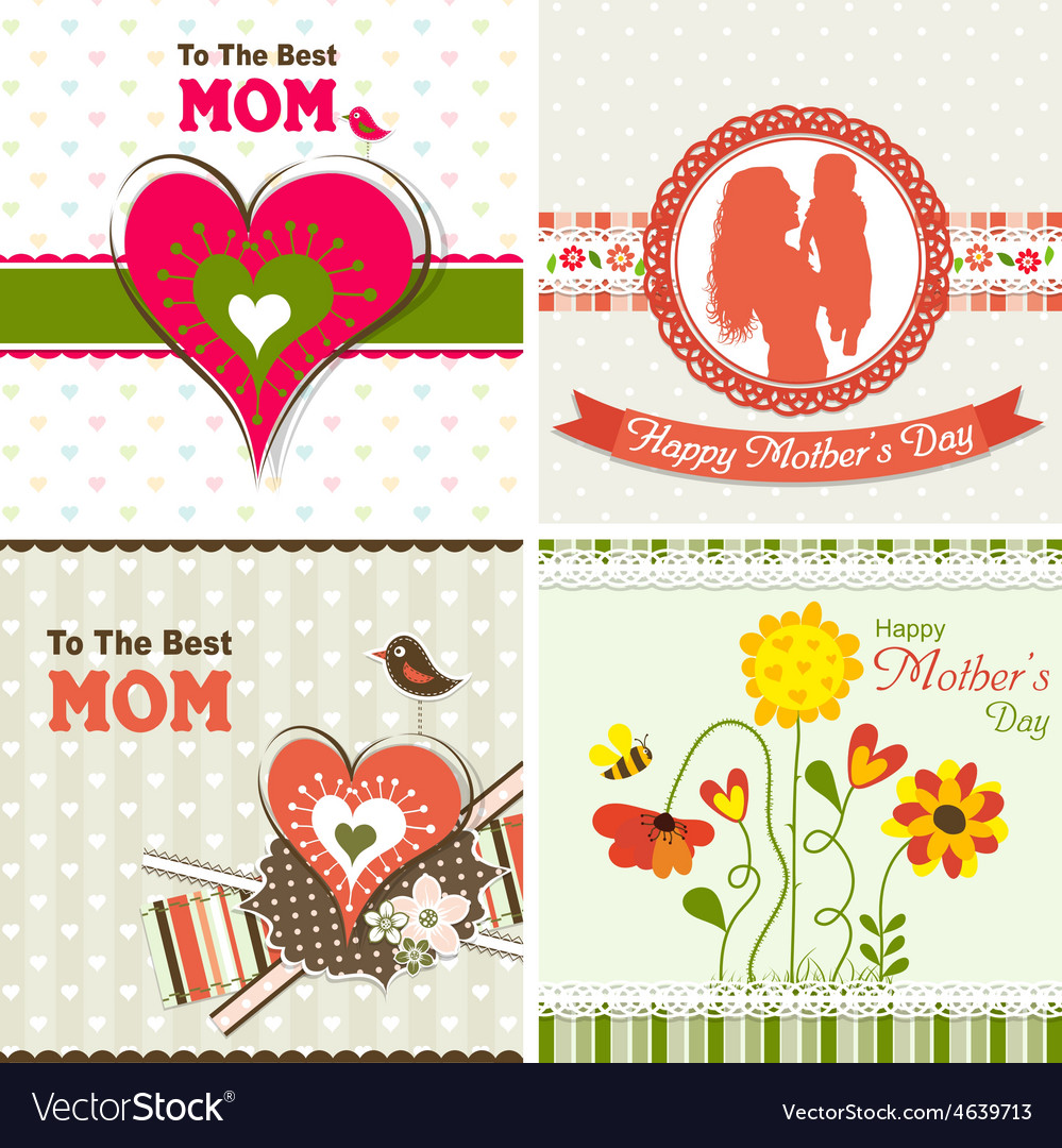 Template greeting card mother day royalty free vector image template greeting card mother day vector image m4hsunfo