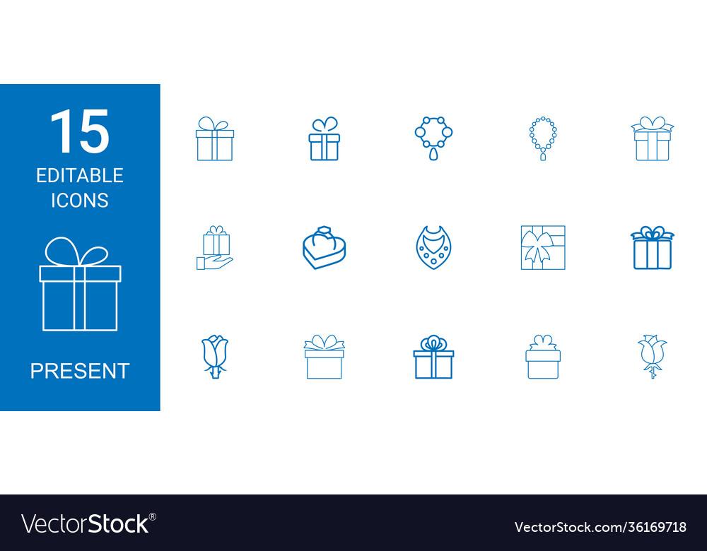 15 present icons