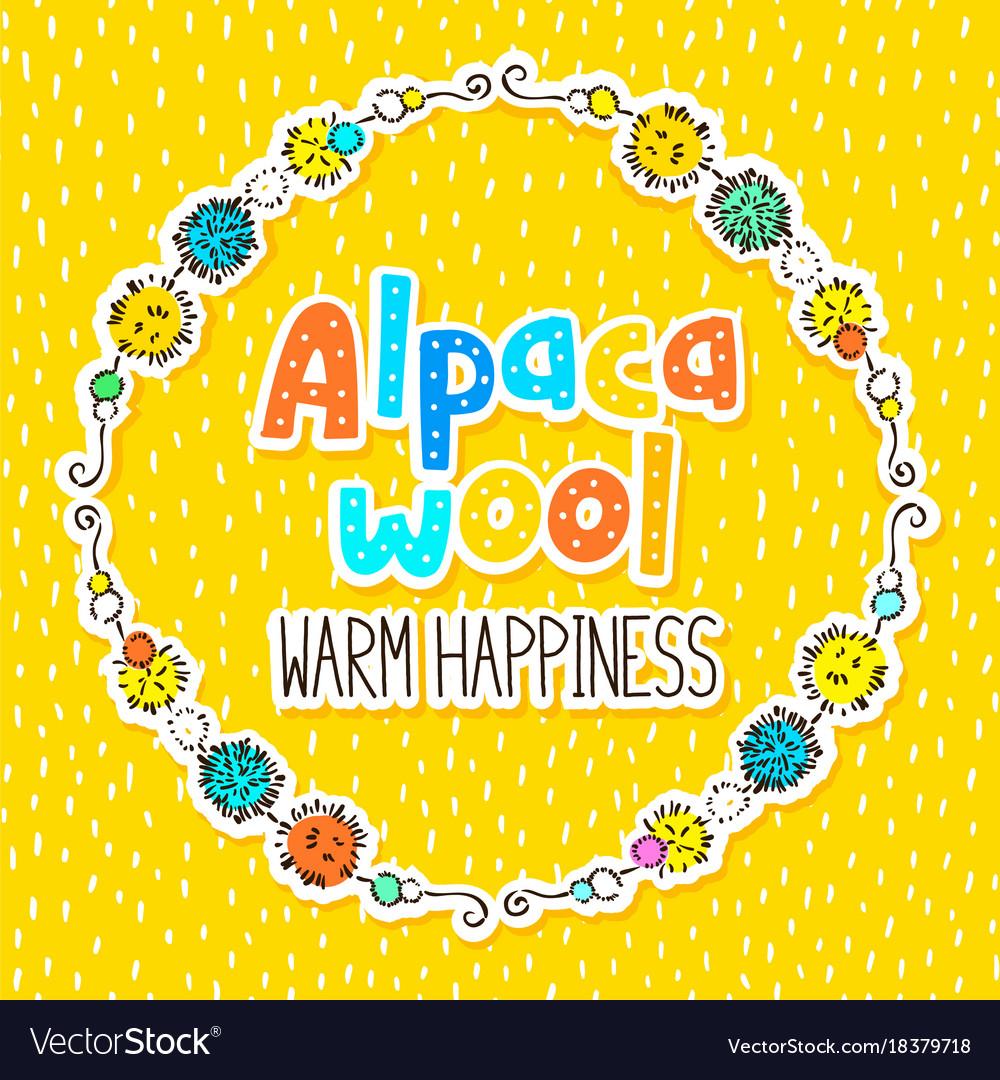 Alpaca wool label design