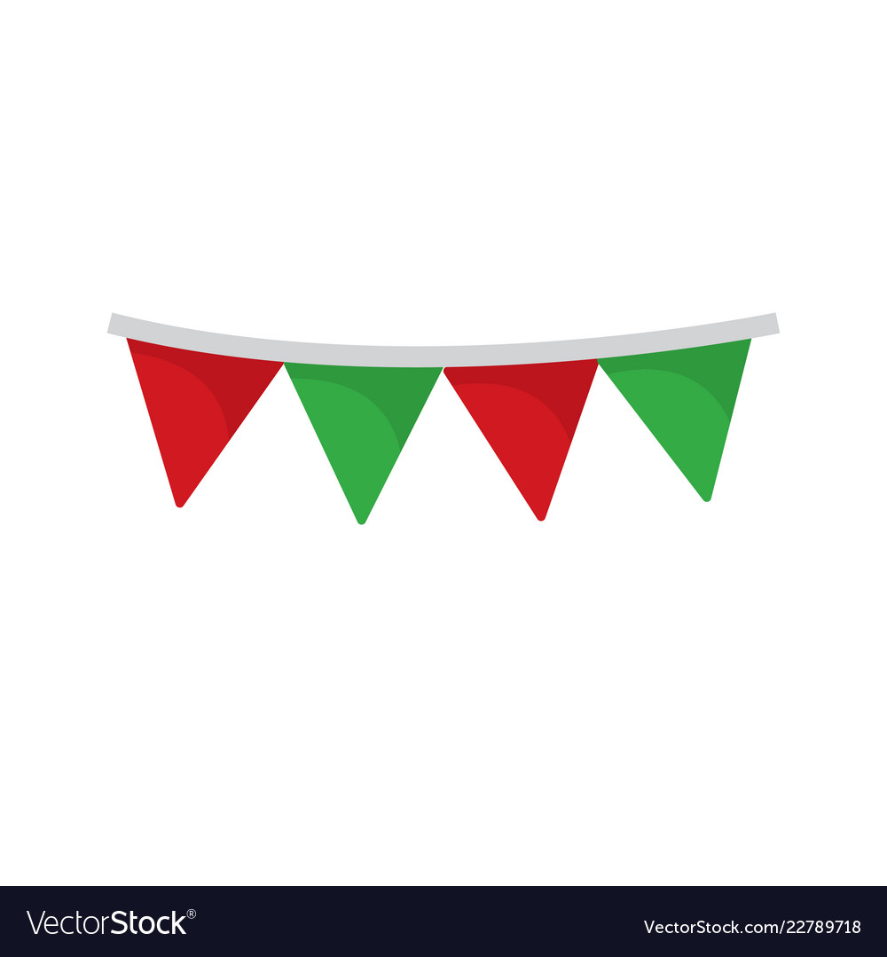 Christmas flags flat on white background Vector Image 175fff165f0b