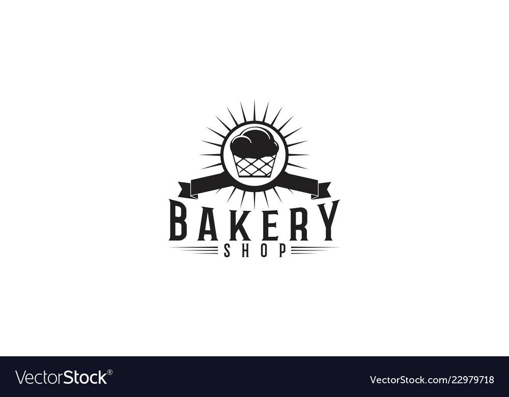 Cupcake bakery logo designs inspiration isolated